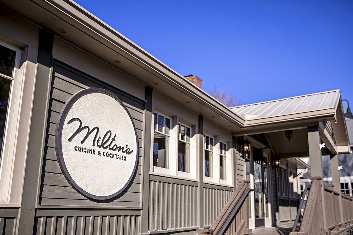 Exterior of Miltons Restaurant